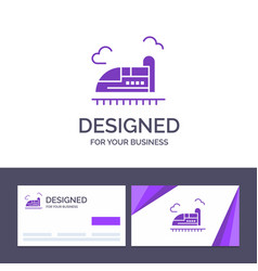 Creative business card and logo template bullet vector