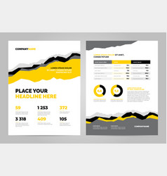 data layout template design vector image