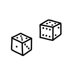 Dices two cube silhouettes vector