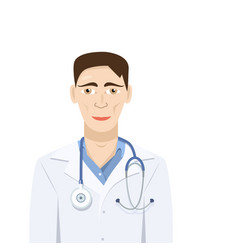 doctor isolated flat design vector image
