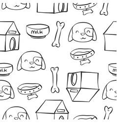 Doodle of dog pet art vector