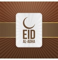 Eid al-Adha paper muslim Badge vector