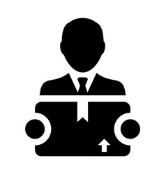 export icon male logistics worker service person vector image
