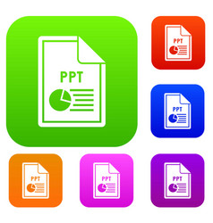 File ppt set collection vector
