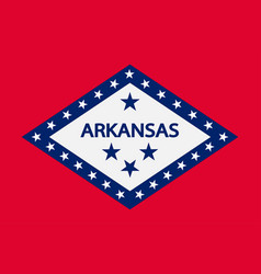 Flag of arkansas usa vector
