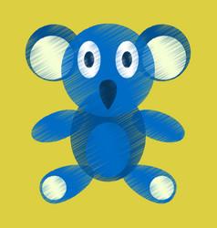 Flat shading style icon koala toy vector