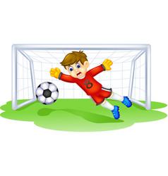 Funny goal keeper cartoon vector