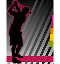 golf concept poster vector image vector image