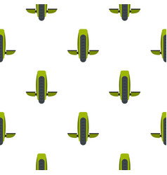 Green monowheel balance vehicle pattern seamless vector