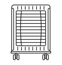home oil radiator icon outline style vector image