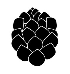 Hop the black color icon vector