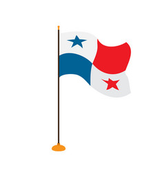 isolated flag of panama vector image