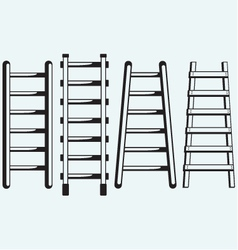ladder against wall vector image