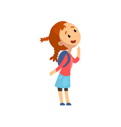 lovely happy little girl kid having fun at vector image