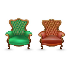 luxurious armchairs on a white background vector image