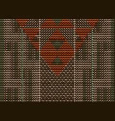 maori weaving pattern background vector image