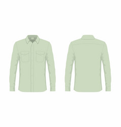 Mens green dress shirt vector