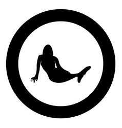 Mermaid icon black color in circle round vector