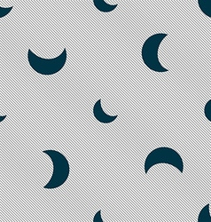moon icon sign Seamless pattern with geometric vector image
