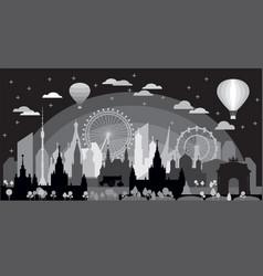 Moscow skyline silhouette 10 vector