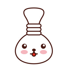 oil jar spa bottle kawaii character vector image