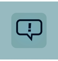 Pale blue answer icon vector image