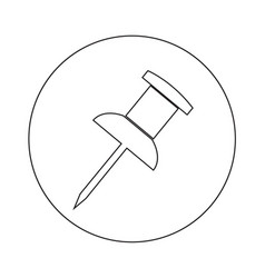 push pin icon design vector image