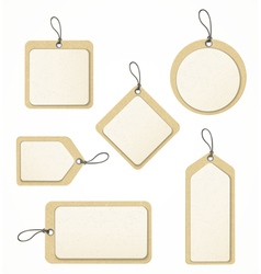 recycled paper tag set vector image