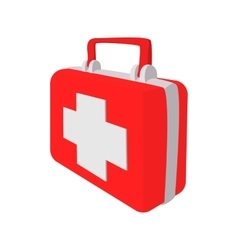 Red medicine chest cartoon icon vector