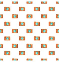 Retro camera pattern cartoon style vector image