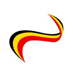 Ribbon in color flag belgium vector