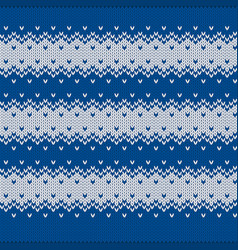 seamless knitted striped vest pattern vector image