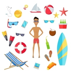 Set of Accessories for the Summer Holidays vector image