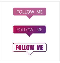 social media follow me frame wallpaper vector image