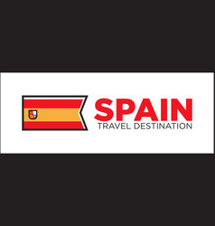 Spain travel destination banner vector