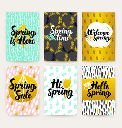 spring time trendy brochures vector image