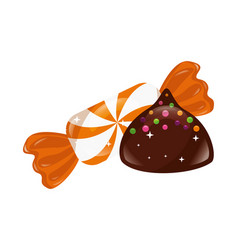Sweet chocolate bonbon wrapper candy vector