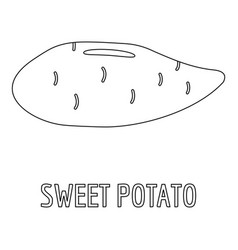 Sweet potato icon outline style vector
