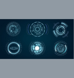 technological hud elements futuristic vector image