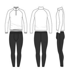 Templates blank shirt and jogging pants vector