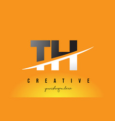 Th t h letter modern logo design with yellow vector