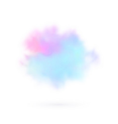 Transparent colored cloud on the sky realistic vector
