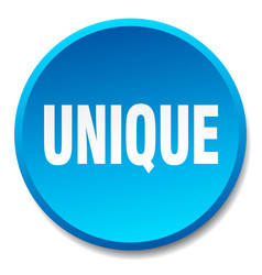 Unique blue round flat isolated push button vector