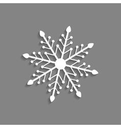white snowflake icon isolated on dark grey vector image
