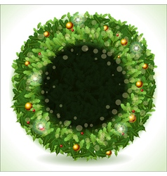 Wreath Christmas with Black Placeholder vector image