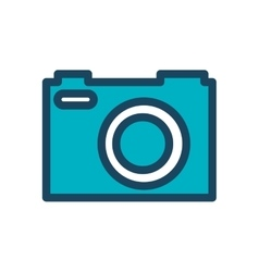 Camera photography retro desing isolated vector