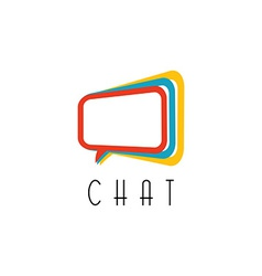 Chat logo talking concept idea communication vector image vector image