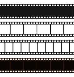 film black and white strip vector image vector image