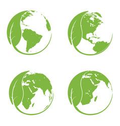 happy earth day concept vector image