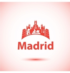 silhouette of Madrid City skyline vector image